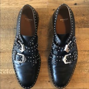 Givenchy studded double monk strap oxfords